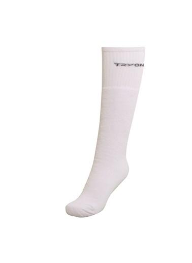 Tryon Tryon Uzun Havlu Çorap Beyaz
